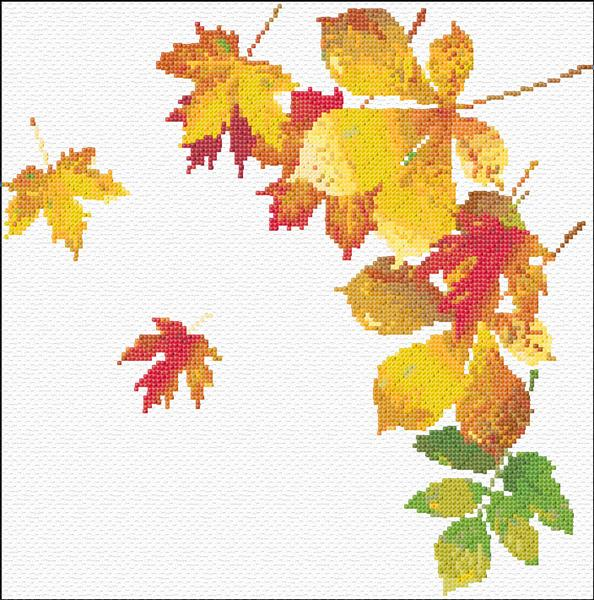 Фон осень листочки