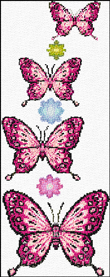 Cross Stitch Butterflies Xstitch Chart Design