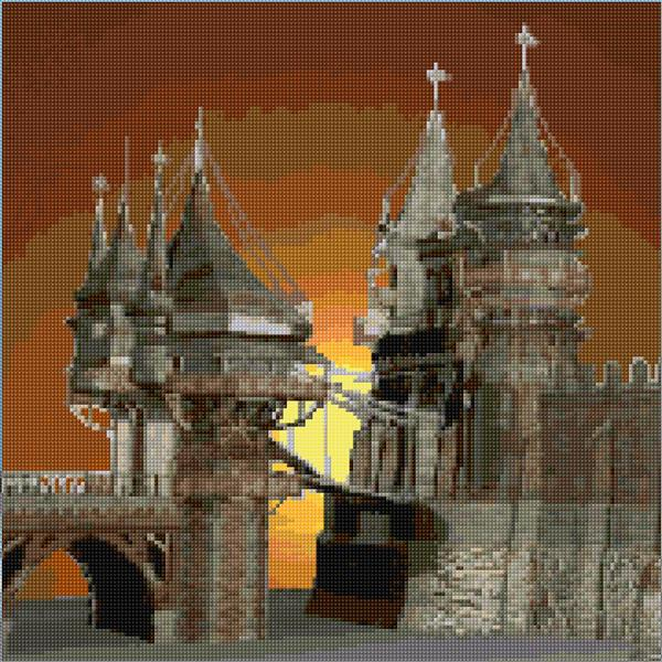 Castle ann 39 s cross stitch patterns Design a castle online