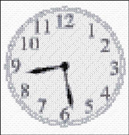 Stitch Clock - Cross Stitch Designs
