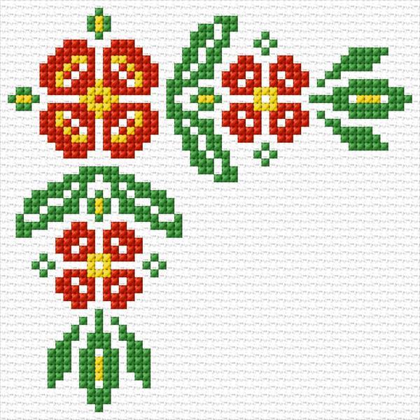 Cross Stitch Designs Flowers Free