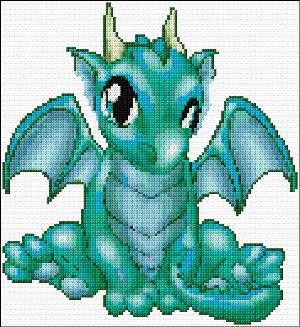 Free Printable Cross Stitch Pattern Dragon