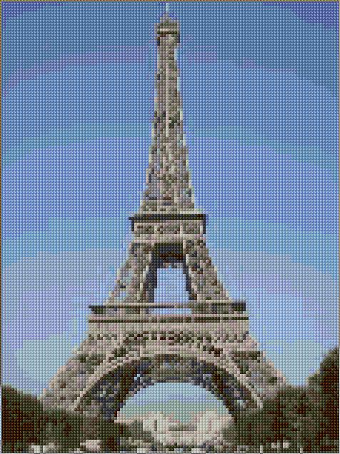 Eiffel Tower cross stitch