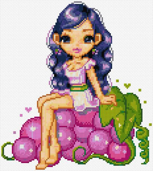 Fairy on Grapes