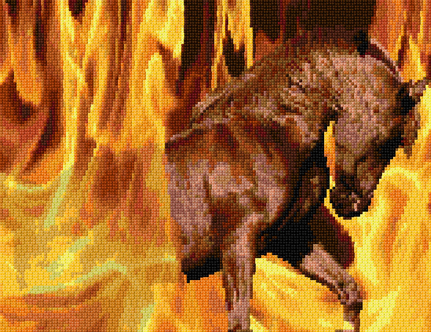 Do It Yourself Home Design: Fire Horse Xstitch Chart