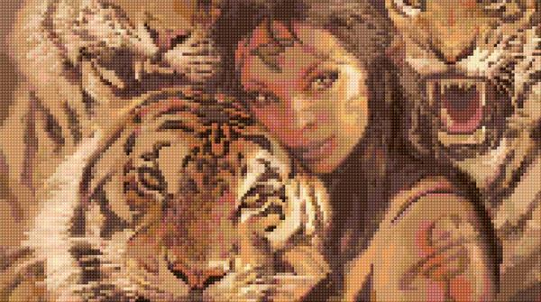 Girl and Tigers