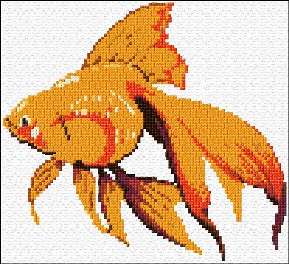 Golden fish ann s cross stitch patterns