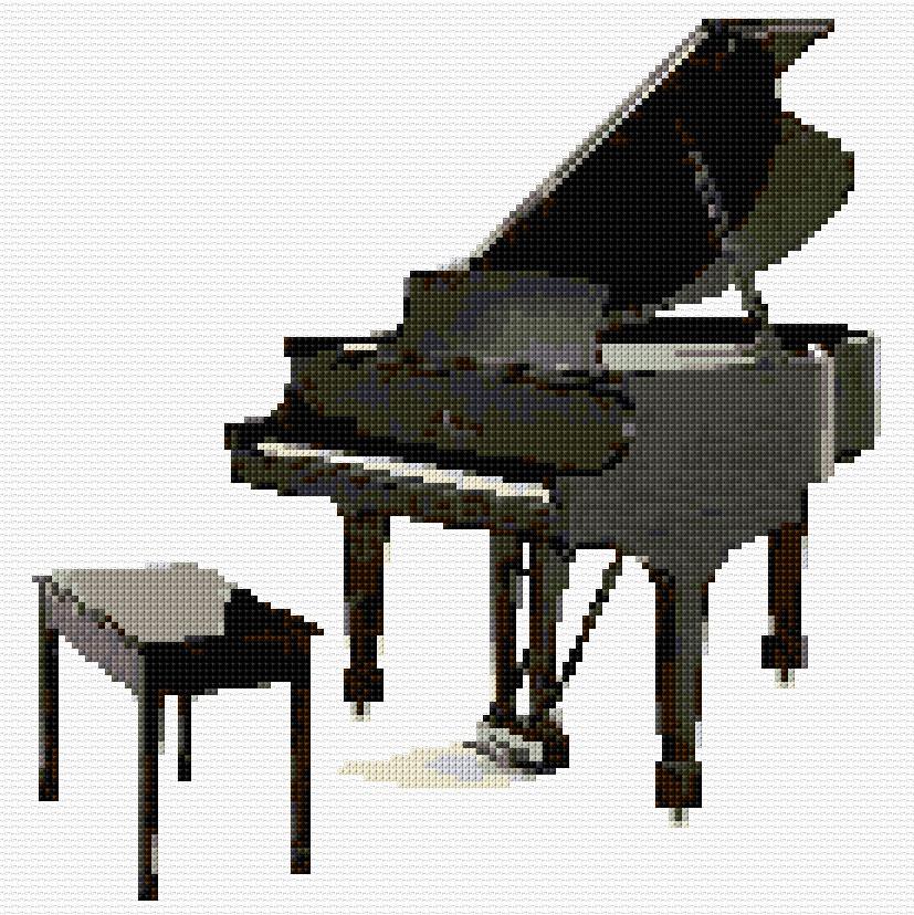 Cross Stitch Grand Piano Xstitch Chart Design