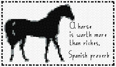 Horse Saying 2 Anns Cross Stitch Patterns