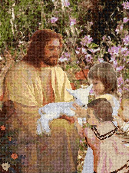 Jesus With Children 40 345 X Stitch 10 Free Patterns Online