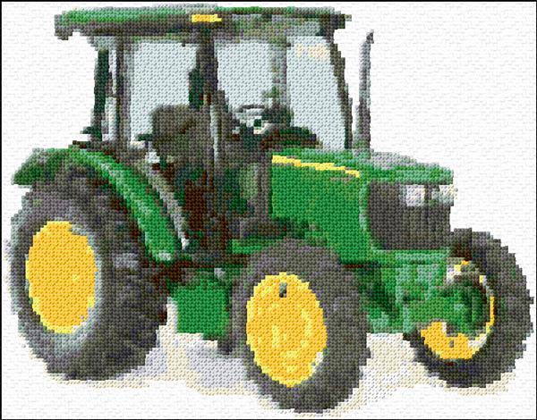John Deere Tractor - Anns Cross-Stitch Patterns