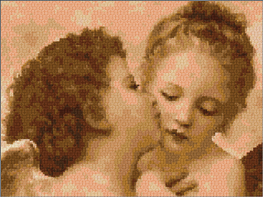 Do It Yourself Home Design: Kissing Angels ( Raphael Xstitch Chart