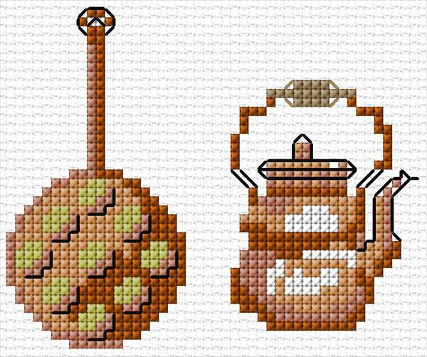 Kitchen ann 39 s cross stitch patterns for Cross stitch kitchen designs