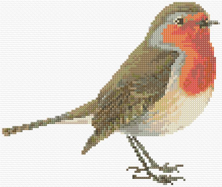 Cross Stitch Robin Redbreast xstitch Chart Design