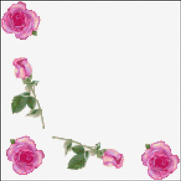 Ann Logan 10 Free Patterns Online Roses Tablecloth Border 1014
