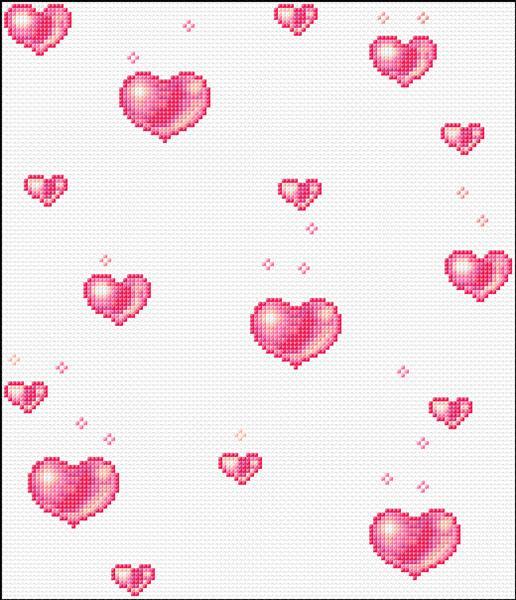 Сердечки летящие анимация