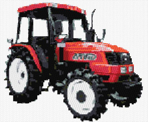 Embroidery Of Tractors : Design embroidery free tractor « origami