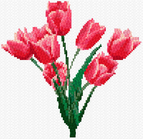 Tulips Cross Stitch Pattern